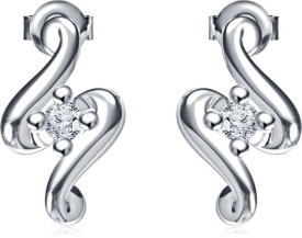 Vorra Fashion Women'S Special Cubic Zirconia Sterling Silver Stud Earring