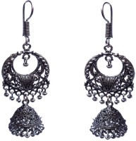 Kundaan Traditional Oxidized Alloy Chandbali Earring