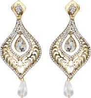 Mitthi Jewels Party Wear White Traditional Type Designer Earrings Alloy Drop Earring
