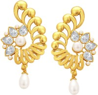 Sukkhi Traditionally Gold Plated American Diamond Alloy Drop Earring