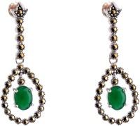 Aashirwad Markasite Drop Silver Drop Earring