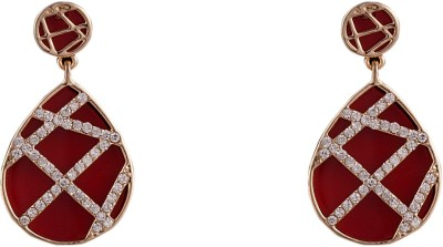 R18Jewels-Fashion&U Sparkling Neon_RED_Gold Metal Drop Earring