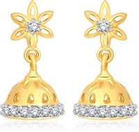 Classic Simplistic Gold And Rhodium Plated Jhumki For Women [CJ1007ERG] Cubic Zirconia Alloy Jhumki Earring