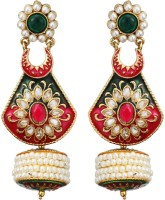 Fabroop The Lovely Multi Pair Add A Huge Amount Of Stylish Punch In Your Outfit Pearl Alloy Drop Earring