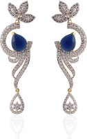Heena Jewellery Contemporary Alloy, Brass Rhodium Drop Earring