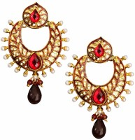 Beingwomen Elegant Gold Plated Pearl With Stone Studded Fashion Alloy Chandbali Earring