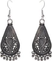 The Fine World Danglers In Oxidised German Silver Metal Dangle Earring