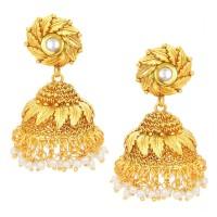 Sukkhi Resplendent Jhumki Gold Plated Kundan Alloy Jhumki Earring
