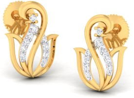 Kamal Jeweller Vidya Swarovski Crystal Sterling Silver Stud Earring