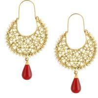 Dg Jewels Golden Dangling Metal, Alloy Drop Earring