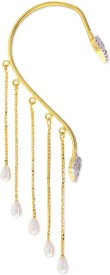 Sixmeter Sixmeter Jewels Golden Copper Dangle & Drop Ear Cuff For Women (Az-Bt-347) Alloy Earring Set