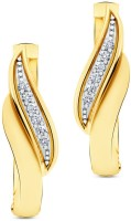 CaratLane Euphoria 18K Yellow Gold Plated 18 K Diamond Gold Stud Earring