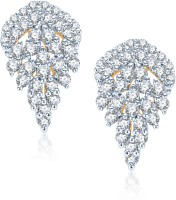 VK Jewels VK Jewels Christmus Tree Gold And Rhodium Plated Earrings. 18K Yellow Gold Alloy Clip-on Earring