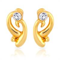 Mahi 24K Yellow Gold Crystal Brass, Alloy Stud Earring