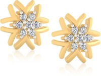 Forevercarat Charming 14K Yellow Gold Plated Diamond Silver Stud Earring