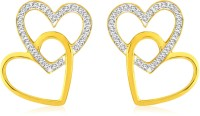 Sparkles 18K Yellow Gold Plated 18 K Diamond Gold Stud Earring