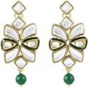 Karatcart Royal Green Onyx Kundan Brass, Alloy Dangle Earring - ERGDWUJRWVVXTUNZ