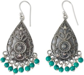 SilverColors Dusty Turquoise Turquoise Silver Dangle Earring