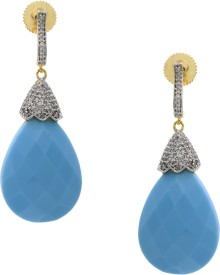 Prisha ADEAR618 Cubic Zirconia Copper Drop Earring