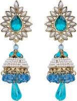 Mitthi Jewels Party Wear Blue Traditional Type Designer Earrings Alloy Drop Earring