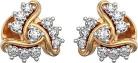 I Love Diamonds Dazzling Dreams Earrings 18 K Diamond Yellow Gold Stud Earring