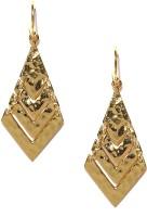 DressBerry 22K Gold-Plated Metal Dangle Earring