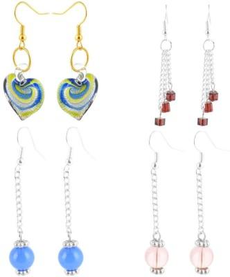 Beadworks Fusion Glass Glass Earring Set
