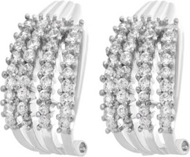 Affinity Cubic Zirconia Alloy Hoop Earring