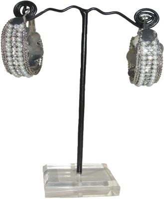 Alloy MKB ER1012B  K Alloy Hoop Earring (Silver)