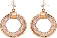 Jewelz Gold Plated Ring Rose Gold Plated Metal Dangle Earring