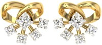 TBZTheOriginal TBZ - The Original 18KT Yellow Gold Party Wear Stud Earring With 0.32cts Diamonds Yellow Gold 18kt Diamond Stud Earring