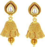 Sukkhi Fabulous Jalebi Jhumki Gold Plated Kundan Alloy Jhumki Earring