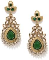 Fida Classic Gold And Green Copper Drop Earring