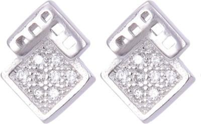 Abhooshan Abhooshan Sparkle Wind Cubic Zirconia Sterling Silver Stud Earring