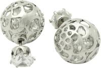 Navisha Trending Double Sided Metal Stud Earring
