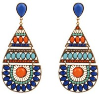 Young & Forever Aztec Style Multicolor Alloy Drop Earring