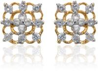 Dhruvi Creation By Zaveri Pearls 22K Yellow Gold, Rhodium K Cubic Zirconia Brass Stud Earring - ERGEFYG4YHYNJXRG
