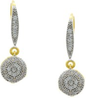Pearls Cart Ad Stone Studded Peacock Theme Style Alloy Drop Earring - ERGEDKRQ2SFXJXUF