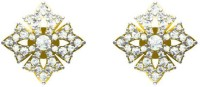 Sakshi Jewels The Sahira  18K Yellow Gold Plated 18 K Diamond Gold Stud Earring