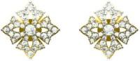 Sakshi Jewels The Sahira 18K Yellow Gold Plated 18 K Diamond Gold Stud Earring
