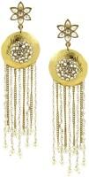 The Jewelbox Designer Indo Western Cubic Zirconia Brass Tassel Earring