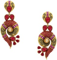 Pearls Cart Ad Stone Studded Peacock Theme Style  K Alloy Drop Earring