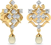 WearYourShine By PCJ The Zelmira 18 K Diamond Gold Drop Earring