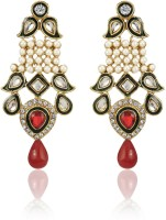 Zaveri Pearls Designer Ethnic Brass Alloy Drop Earring