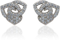 Dhruvi Creation By Zaveri Pearls Designer Exclusive Pattern Brass Stud Earring