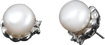 Krishna Pearls & Jewellers Krishna Pearls & Jewellers Pearl Silver Stud Earring (White)