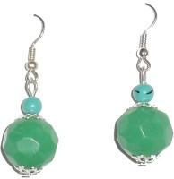 Beadworks Alloy, Glass Dangle Earring