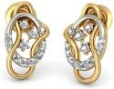 BlueStone The Ellisse Gold Stud Earring