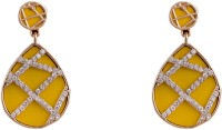 R18Jewels-Fashion&U Sparkling Neon_Yellow_GOLD Metal Drop Earring