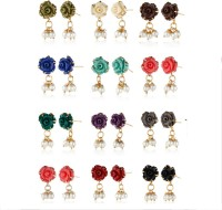 Nisa Pearls Synthetic Coral Designer Earrings Alloy Drop Earring
